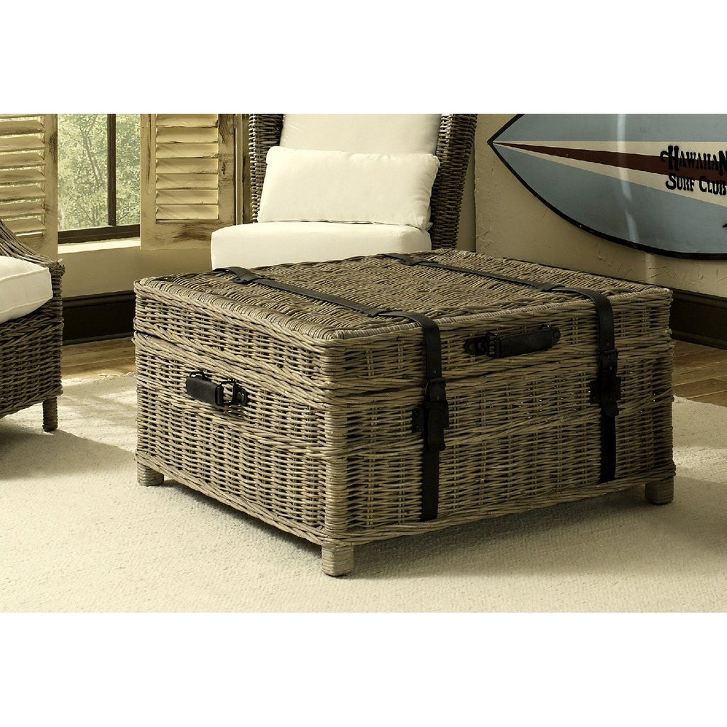 Woven Coffee Table Trunk Nook Cottage - Woven trunk coffee table