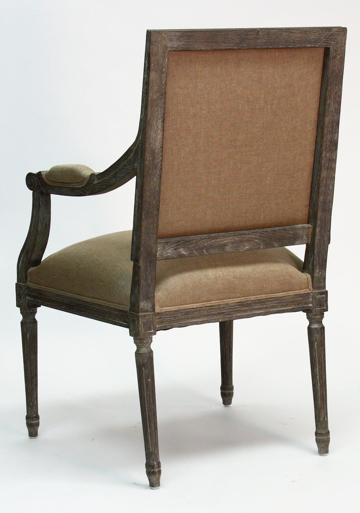 Dining Chair - Louis Arm Chair, Limed Charcoal Oak