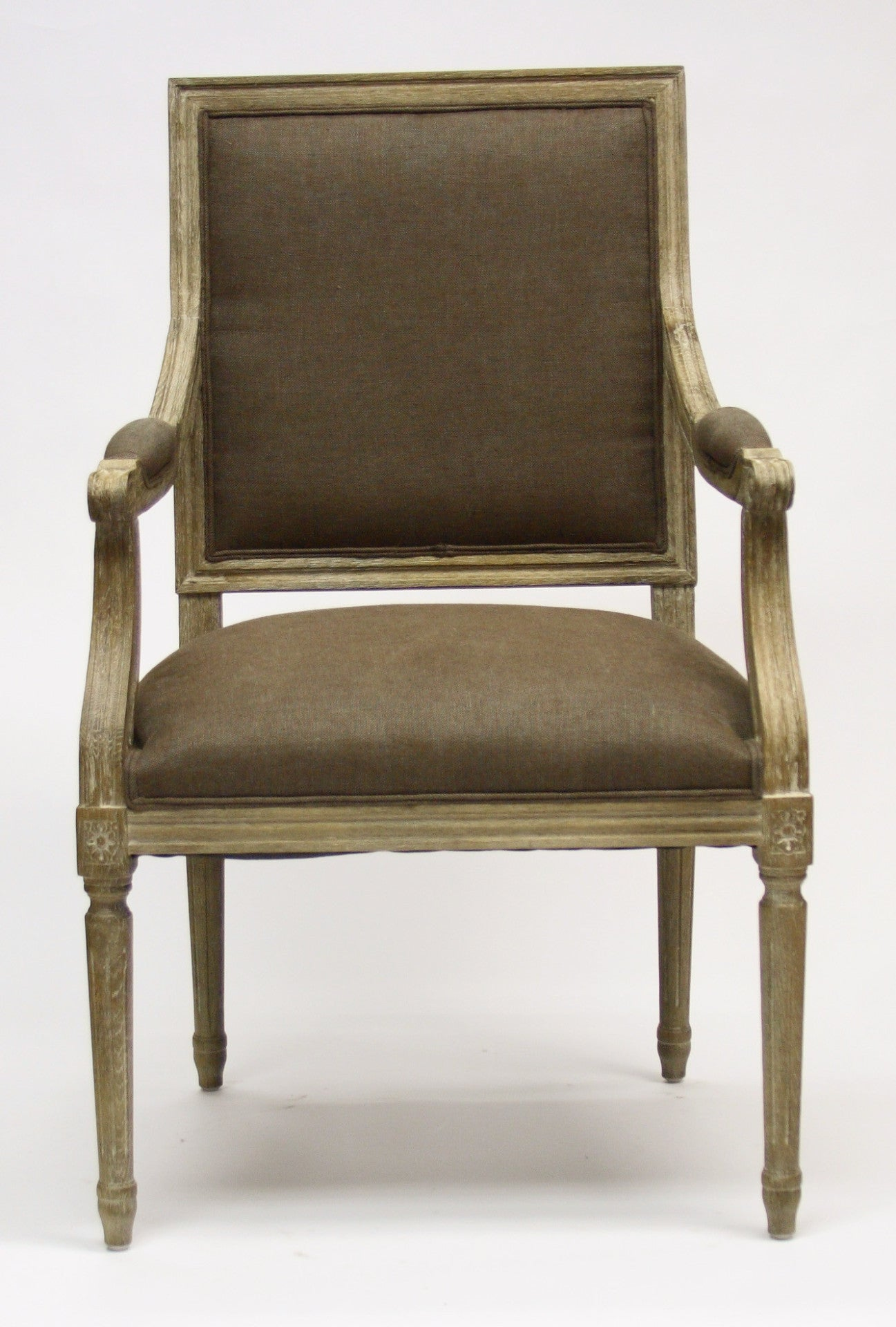 ... Dining Chair   Louis Arm Chair, Limed Grey Oak ...