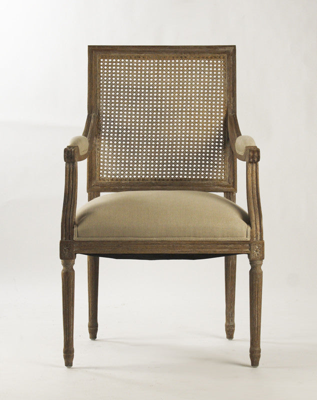 Superbe Dining Chair   Louis Arm Chair With Caned Back ...