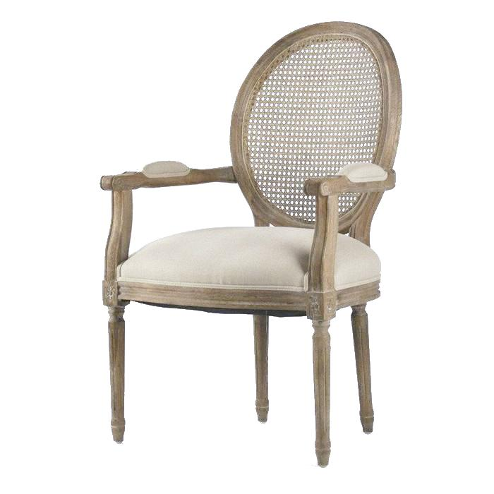 Dining Chair - Medallion Arm Chair, Caned Back