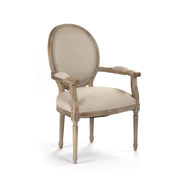Dining Chair - Medallion Arm Chair, Limed Grey Oak