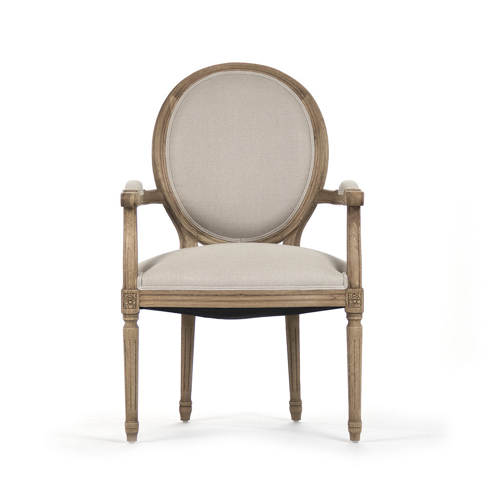 Dining Chair - Medallion Arm Chair, Natural Oak