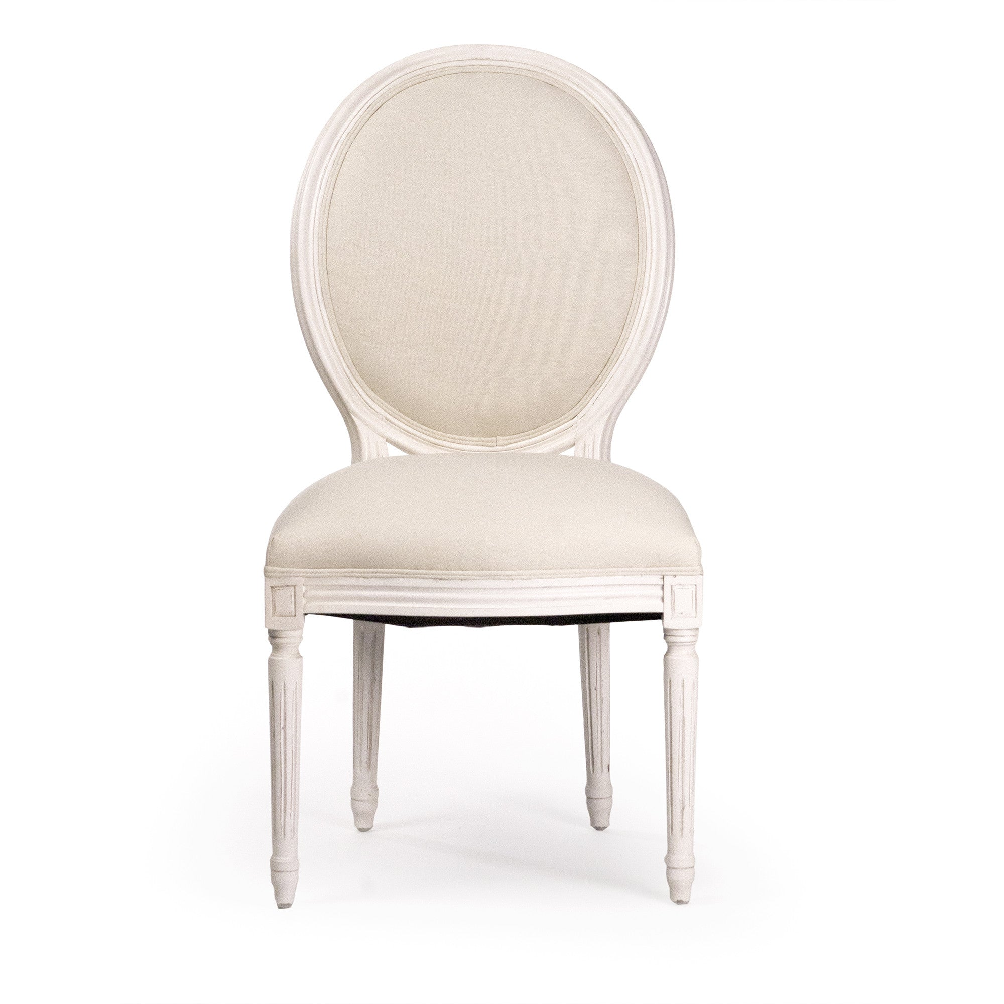 ... Dining Chair   Medallion Side Chair, Antique White ...