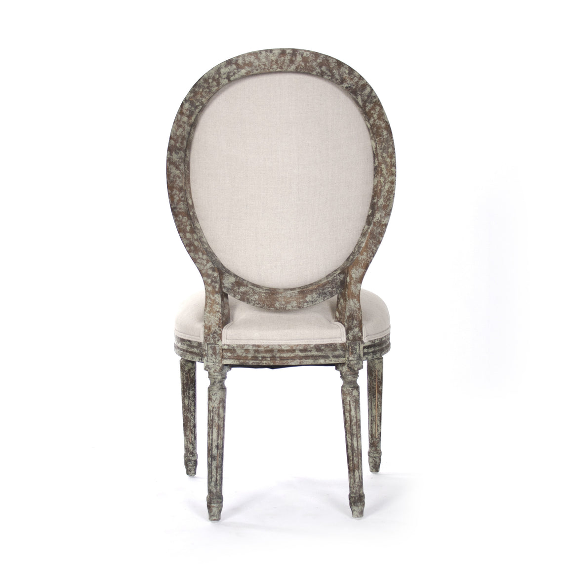 Dining Chair - Medallion Side Chair, Distressed Olive Green