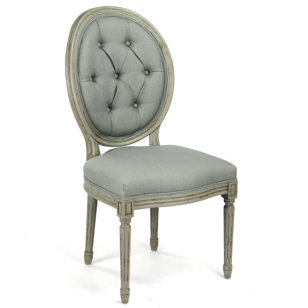 ... Dining Chair   Tufted Medallion Side Chair ...