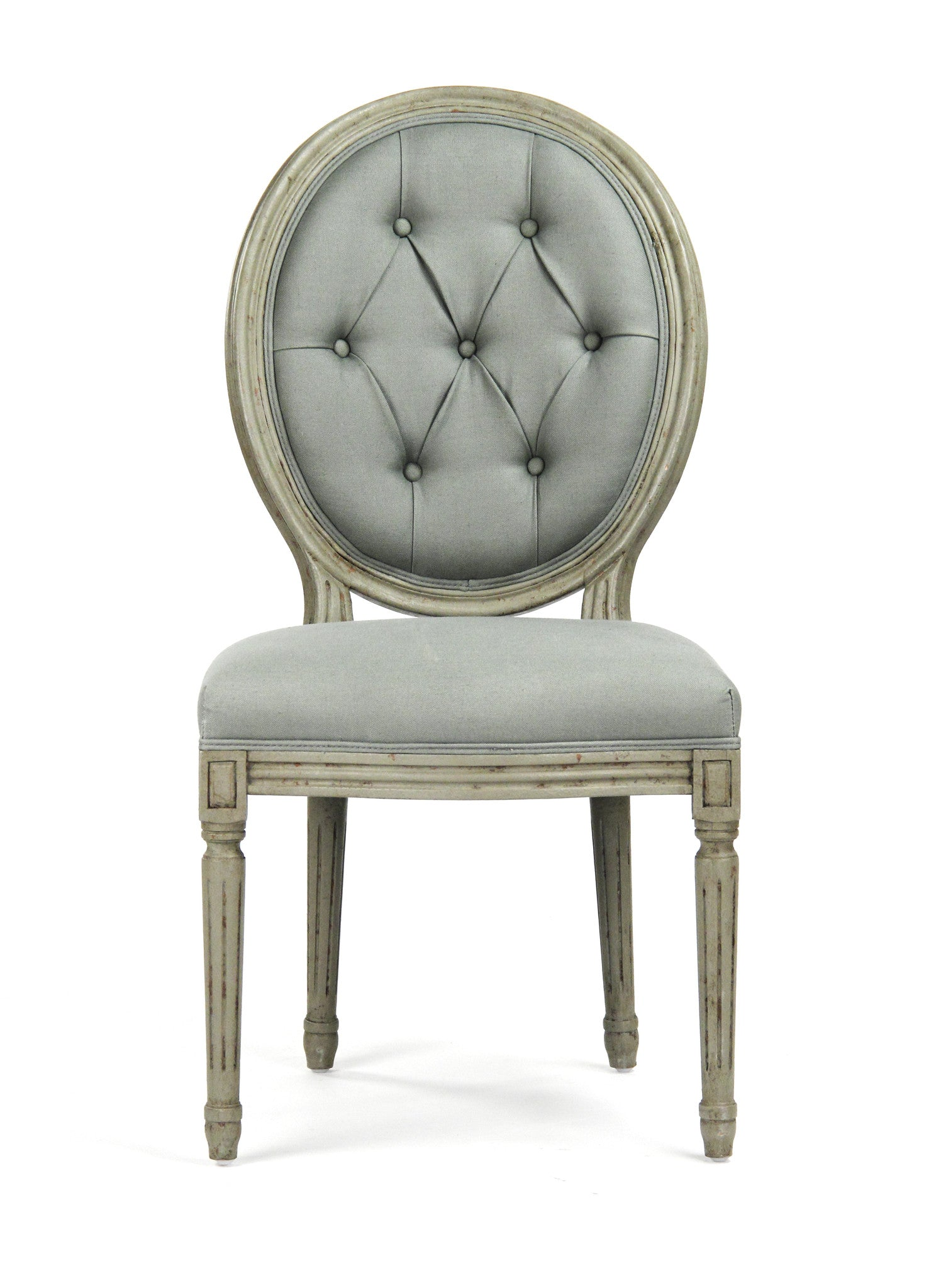 Grey tufted dining chairs -  Dining Chair Tufted Medallion Side Chair