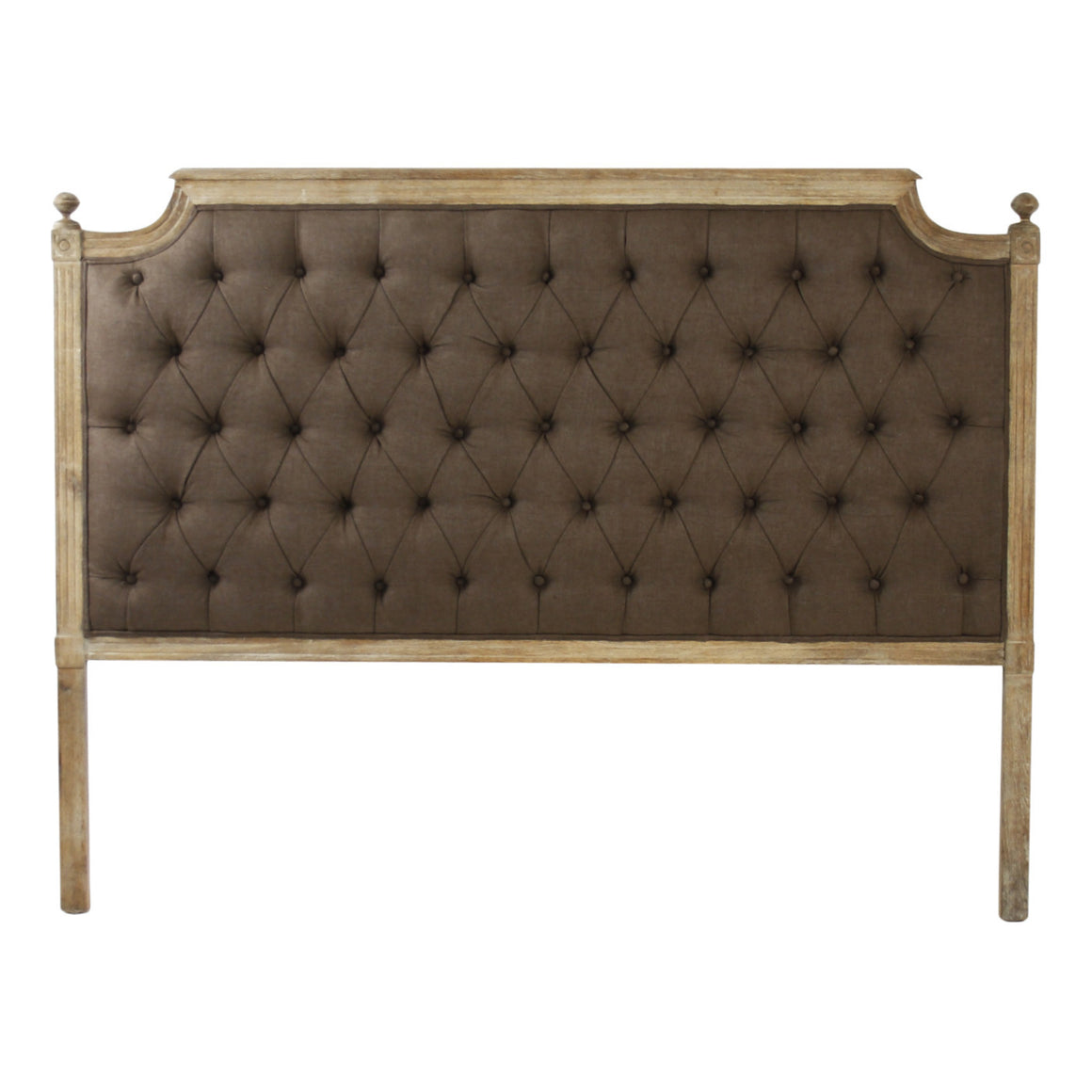 Headboard - Louis Tufted Headboard, Aubergine Linen
