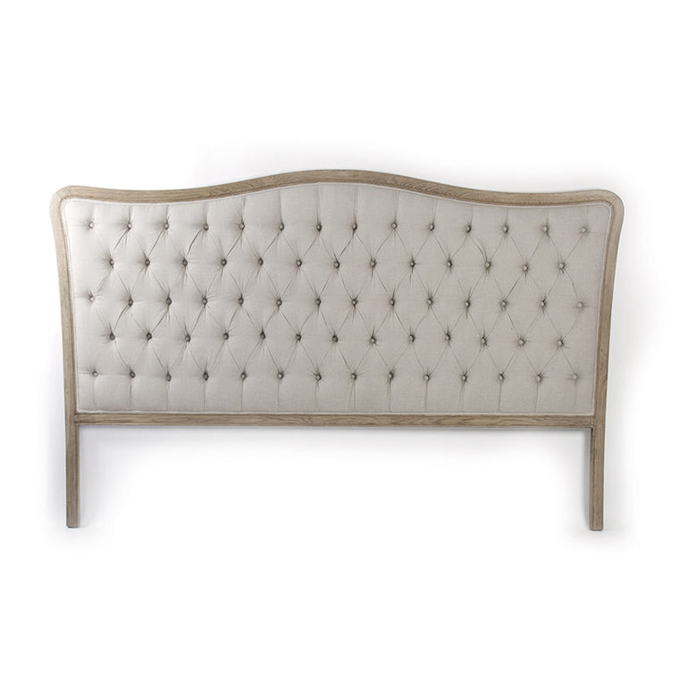 Headboard - Maison Tufted Headboard, Natural Linen