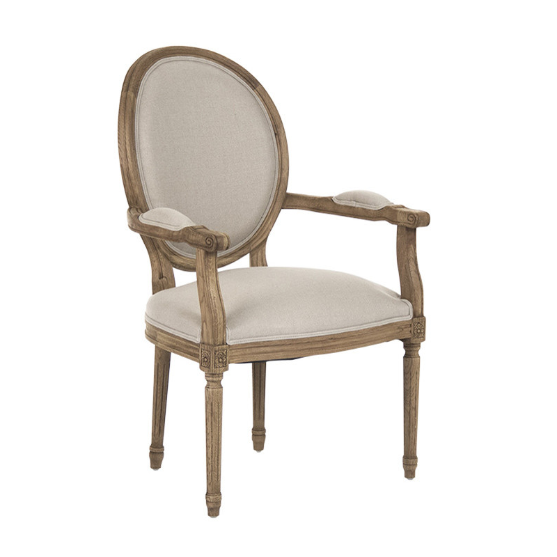Zentique Medallion Arm Chair in Natural Oak