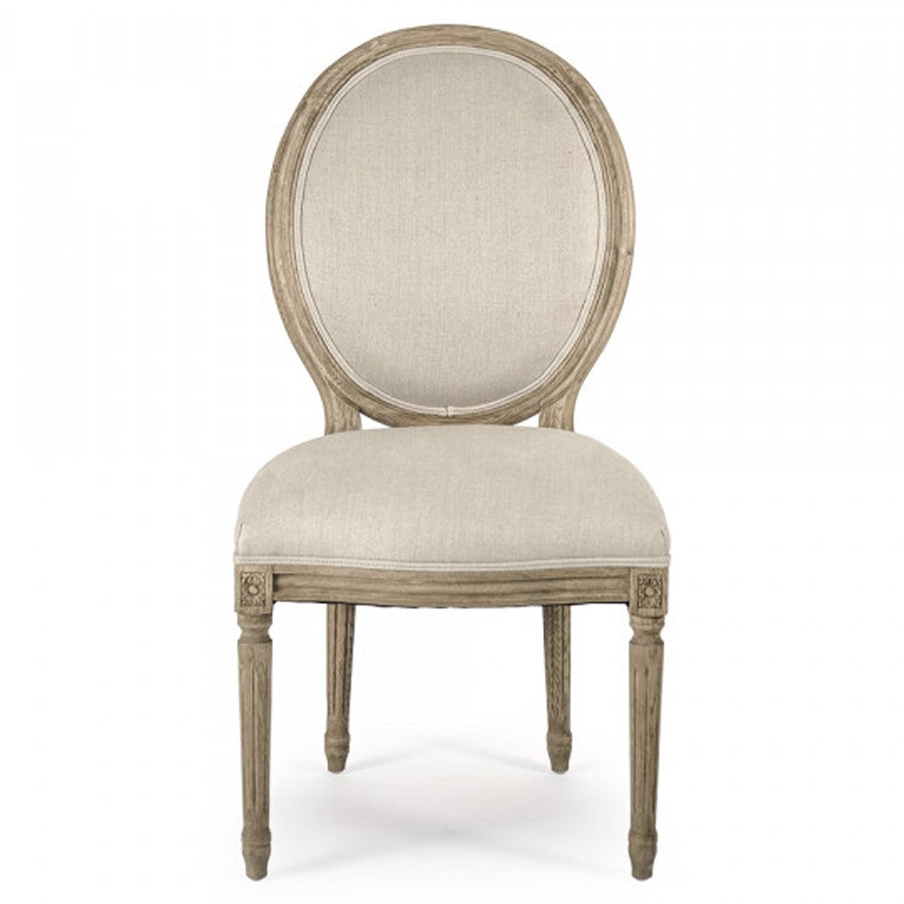 Medallion Side Chair, Natural Oak