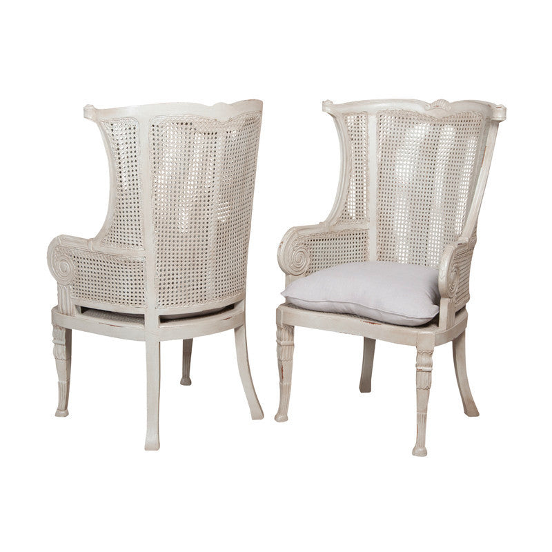 Caned Wing Back Chair; Occasional Chair   Caned Wing Back Chair ...