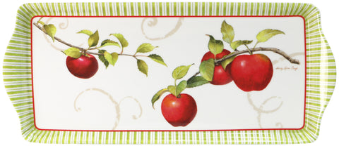 Melamine Tidbit Tray, Harvest Apple