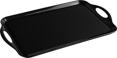 Rectangular Melamine Tray, Black