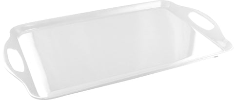 Rectangular Melamine Tray, White