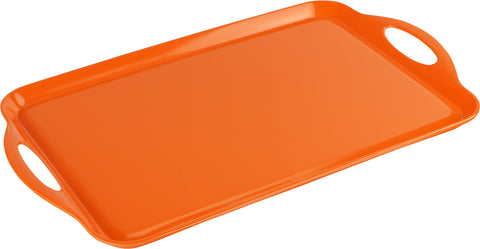 Rectangular Melamine Tray, Orange