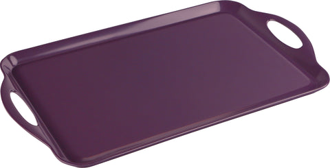 Rectangular Melamine Tray, Plum