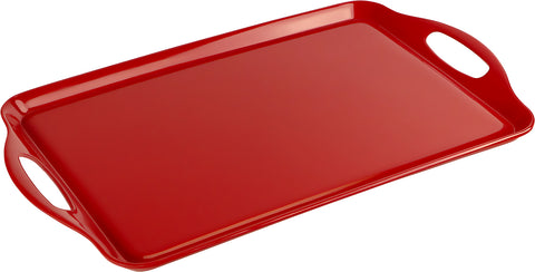 Rectangular Melamine Tray, Red