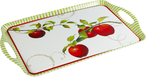 Melamine Rectangular Tray, Harvest Apple