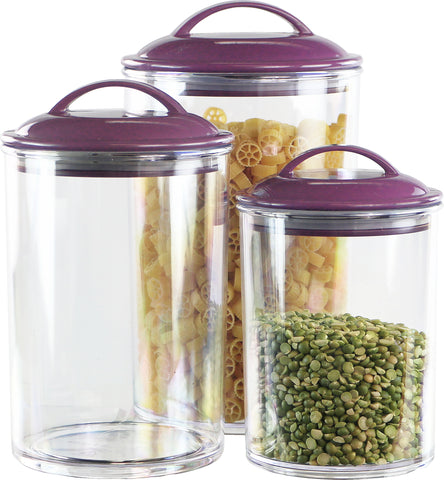 6pc Acrylic Canister Set, Plum