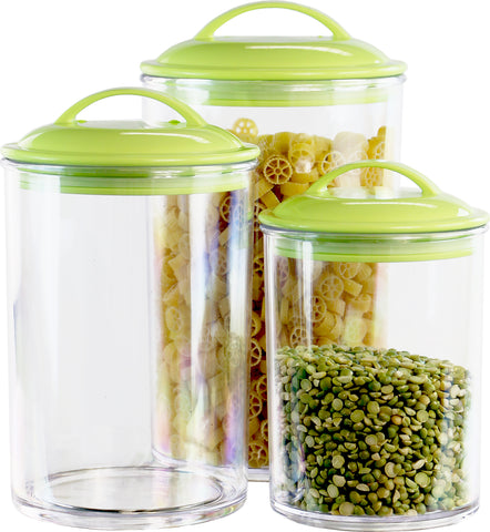 6pc Acrylic Canister Set, Lime