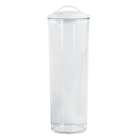 Acrylic Spaghetti Canister,  White