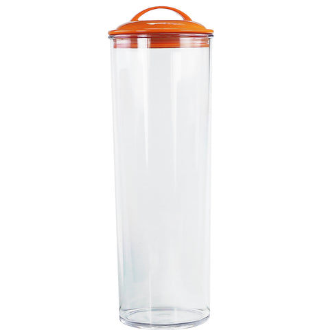 Acrylic Spaghetti Canister,  Orange