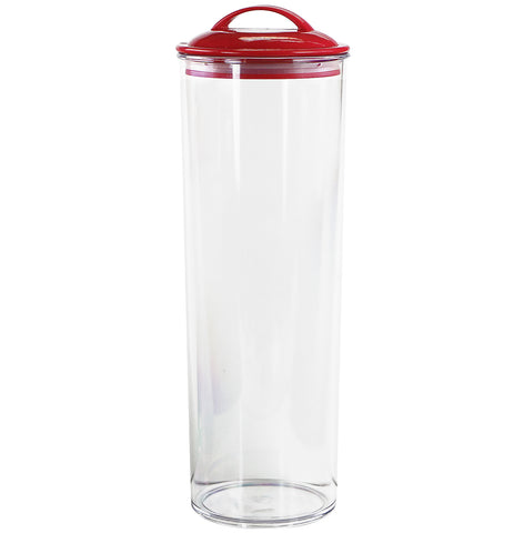 Acrylic Spaghetti Canister,  Red