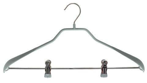 BodyForm, 42-LK, Pant Bar with Clips, Silver