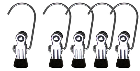 Single Clip on Hook, K-1, Black (Set of 5)