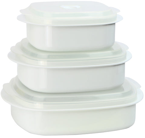 Microwave Cookware & Storage Set, White