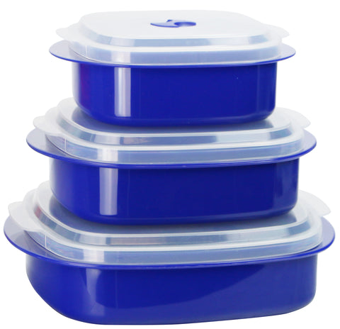 Microwave Cookware & Storage Set, Indigo