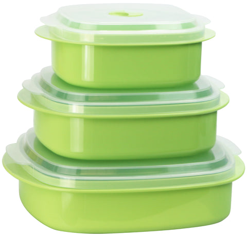 Microwave Cookware & Storage Set, Lime