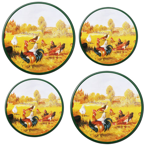 Tin Burner Cover Set, Rooster