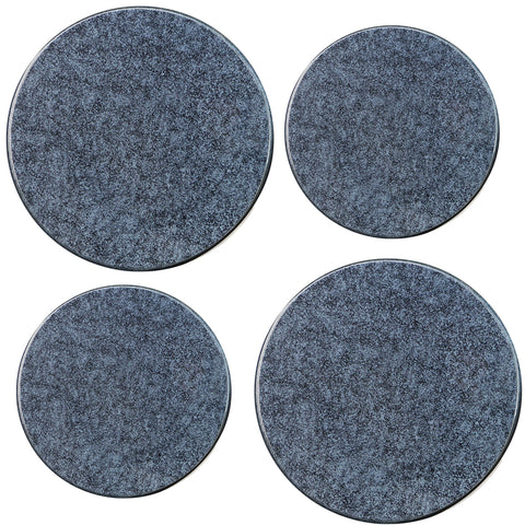 Tin Burner Cover Set, Black Granite
