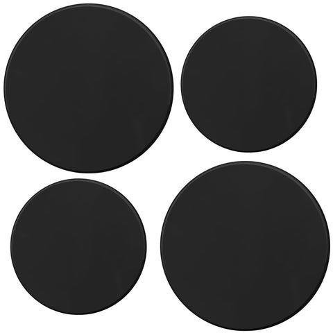Tin Burner Cover Set, Black