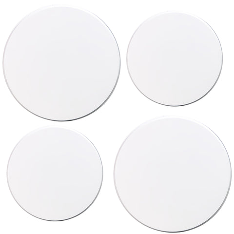 Tin Burner Cover Set, White