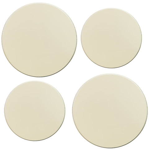 Calypso Basics by Reston Lloyd, Tin Burner Cover Set, Plain Almond