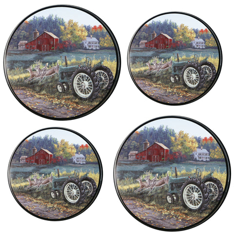 Tin Burner Cover Set, Morning Run