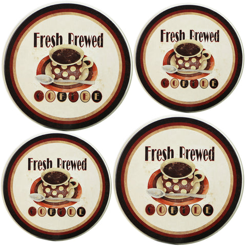 Tin Burner Cover Set, Fresh Brewed