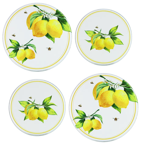 Tin Burner Cover Set, Fresh Lemons
