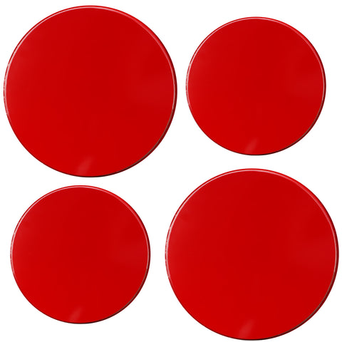 Calypso Basics by Reston Lloyd, Tin Burner Cover Set, Red
