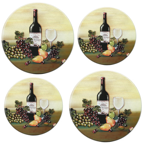 Tin Burner Cover Set, Wine & Vine