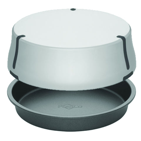 "PrepCo, Bake Porter 9"" Cake Pan with Cover, Grey"