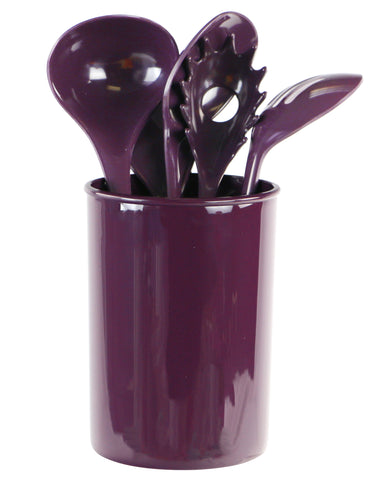 6pc Utensil Set, Plum