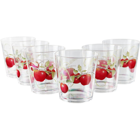 Harvest Apples, Acrylic Drinkware, 14 oz, Rock Glass, Set of 6