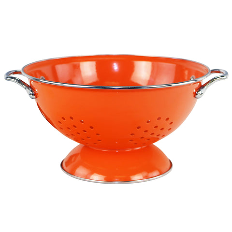 Powder Coated Colanders, Orange