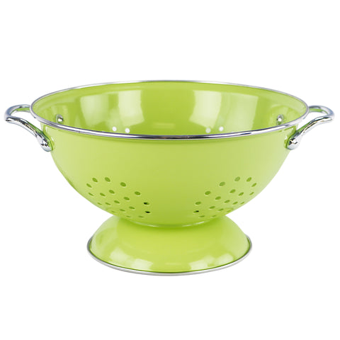 Powder Coated Colanders, Lime