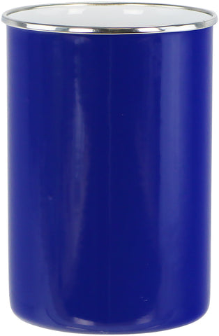 Enamel Steel Utensil Holder, Indigo