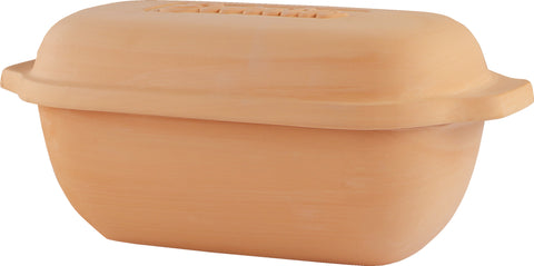 Eurita Clay Loaf Pan with Lid, 2 Quarts